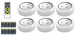 Led Kitchen Under Cabinet Lighting Brilliant Evolution Brrc135 Wireless Led Puck Light 6 Pack With