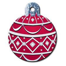 ornament engravable pet i d tag with same day shipping