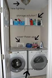 Laundry Room Storage Ideas For Small Rooms After Makeover Small Laundry Room Design With New Lighting Wood