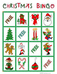 christmas bingo card 10 woo jr kids activities