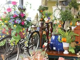 home decor silk flower arrangements home and gifts silk flowers and plants with vintage bicycle