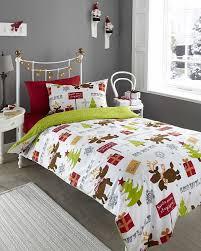 reindeer rudolf single duvet cover u0026 p case bedding bed set