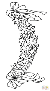 christmas wreath coloring page free printable coloring pages