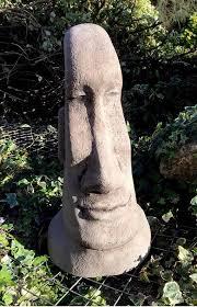 easter island statue moai tiki style garden