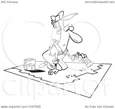 painting a floor royalty free rf clip art illustration of a cartoon black and