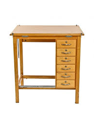 Vintage Drafting Tables Original C 1950 S Vintage American Industrial Varnished Maple