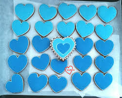 loving creations heart shaped iced brown sugar cookies