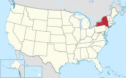 map of united states with states and cities labeled list of cities in new york