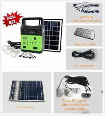 10 watt solar generator portable kit power inverter solar