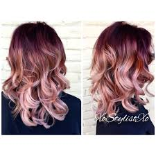 hombre style hair color for 46 year old women red rose gold blush sombre so want to have this hair color