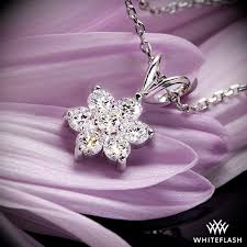 white gold flower necklace images Flower cluster 39 diamond pendant 691 jpg