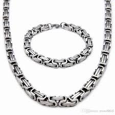 wholesale steel necklace chains images 2018 top quality stainless steel jewelry set silver gold color jpg