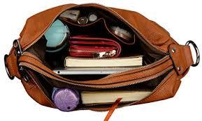 Cowhide Leather Purses The Shoe Club Yaluxe Women U0027s Double Zipper Soft Hobo Style