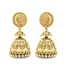 ear ring images yellow gold 22k kasturi gold earring candere