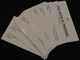 offensive business cards you at parking business cards 10 pack