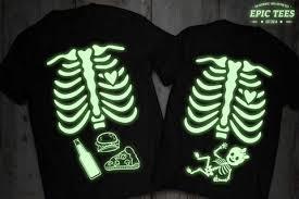 glow in the dark halloween maternity shirts matching halloween