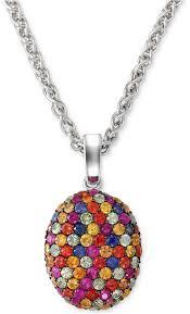 multi pendant necklace images Effy balissima by multi color sapphire pendant necklace in jpg