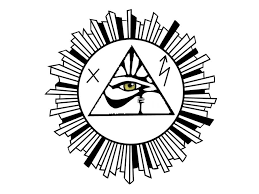 attractive horus eye pyramid in nicely designed sun stencil