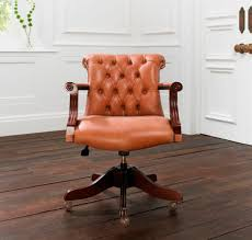 Chesterfield Armchairs For Sale Traditional Office Armchair Leather Star Base Residential