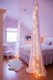 diy bedroom decorating ideas for teens creative string lights and transparent curtain for diy bedroom ideas