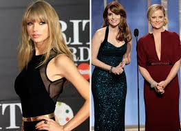 taylor swift hits back at tina fey amy poehler for golden globes