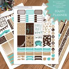 coffee planner stickers printable coffee printable planner stickers happy planner mambi life planner