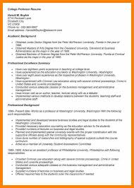 Sample Resume For Assistant Professor Position 10 College Professor Resume Resign Latter