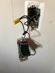 electrical changing a dimmer to single pole with three black and
