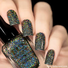 black holo witch 12ml f u n lacquer