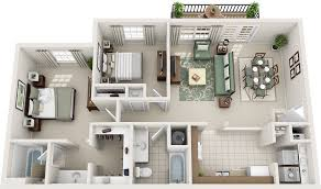 3 Bedroom 2 Bathroom House Plans Two Bedroom Floor Plans Charleston Hall Apartments