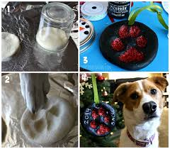 salt dough puppy paw print ornament tips4us
