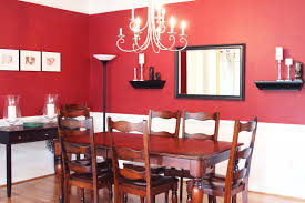 dining room painted red decor