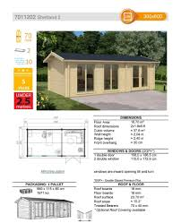 House Specification Sheet by The Shetland 70mm Log Cabin U2013 3 0m X 6 0m U2013 Under 2 5m High