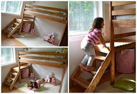 how to build a playhouse loft bed with stairs and slide u2013 iseeidoimake
