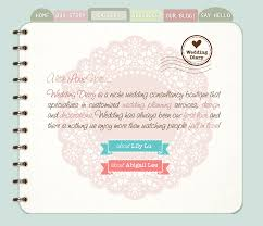 wedding diary introducing wedding diary webpage