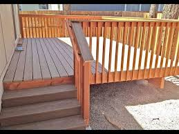 composite deck stair railing how to install composite deck stair