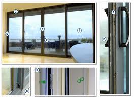 High Security Patio Doors Penthouse Sliding Aluminium Patio Doors Security Features