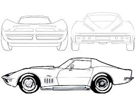 vintage corvette drawing cartoon cars drawing collection 81