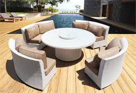 white round outdoor patio table white wicker patio furniture home design ideas adidascc sonic us
