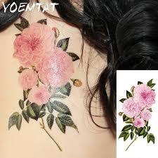 style flower 25 style flower arm shoulder tattoo stickers flash henna tattoo fake