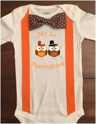 customizable personalized baby boy thanksgiving onesie owl