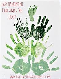 easy handprint christmas tree craft for kids u2013 only passionate