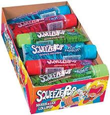 Where Can I Buy Caramel Apple Lollipops Amazon Com Hubba Bubba Squeeze Pop Assorted 4 Oz Sweet Lollipops
