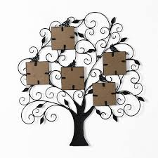 adeco metal family tree 5 opening picture frame holds five 4x4