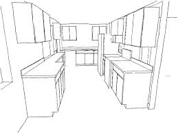 Kitchen Cabinet Drawings Draw Kitchen Cabinets Kitchen