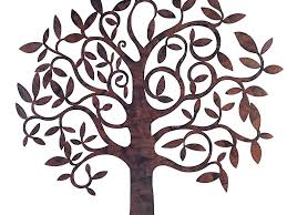 decor 53 wall art garden home from large metal tree exterior