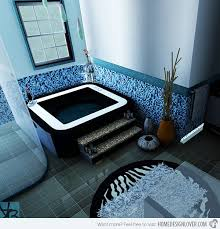 black and blue bathroom ideas 18 cool and charming blue bathroom designs home design lover