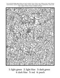 coloring pages teenagers difficult color number places
