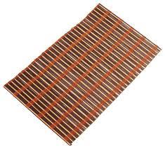 of 6 tablemats placemats u2013 hand woven light u0026 dark brown bamboo