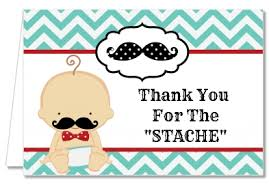 baby shower thank you cards baby shower thank you cards mustache thank you notes